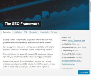The seo framework best wordpress seo plugin