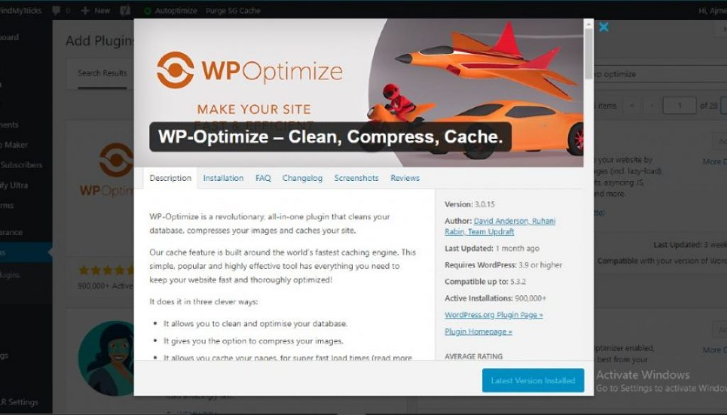 WP Optimize Best Settings Configuration For WordPress(2021)