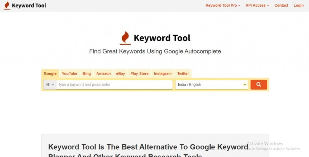 keywordtool - best keyword checker tool